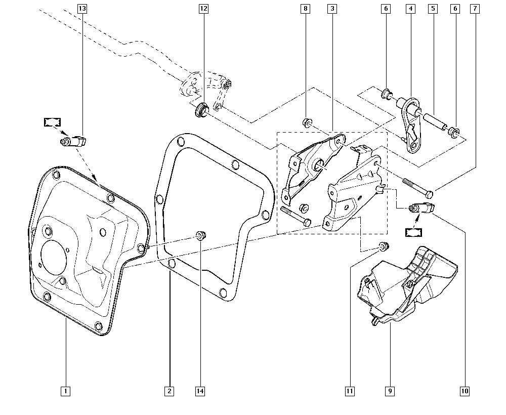 Trafic II, JL0H, Manual, 37 Pedal assembly / Pedal