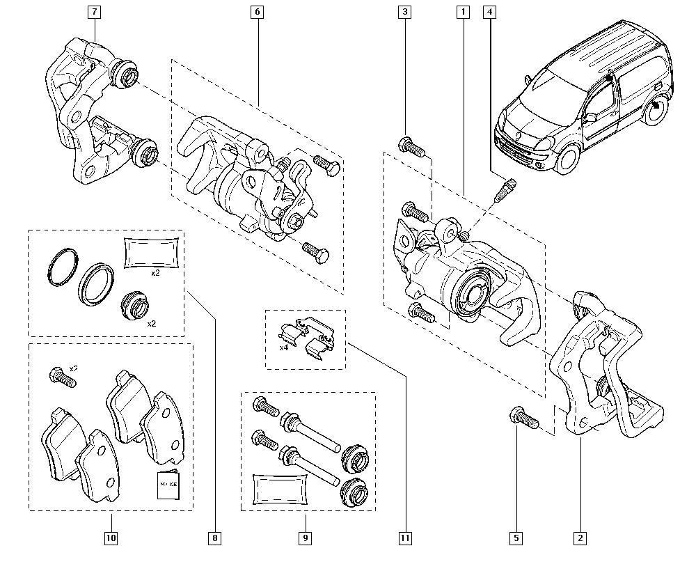 Kangoo II, FW0N, Manual, 34 Rear non-bearing elements