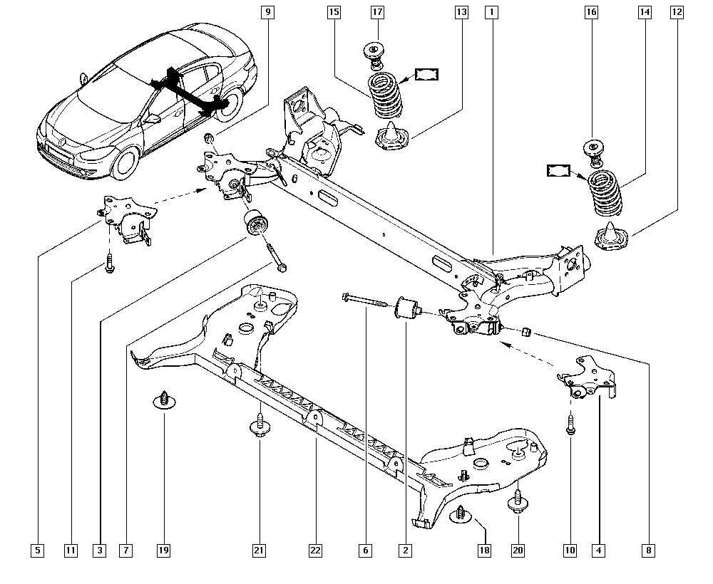 Fluence-Mégane Generation, L30C, Manual, 33 Rear bearing