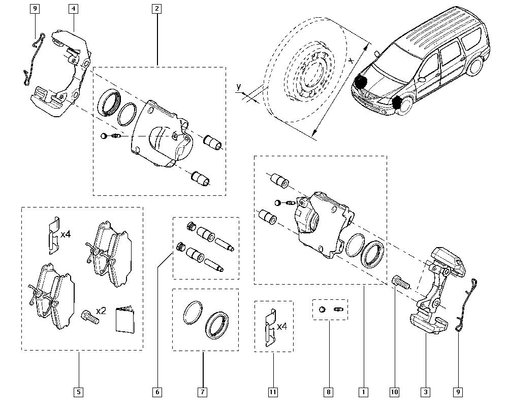 Logan Sandero I, KS0D, Manual, 32 Non bearing front