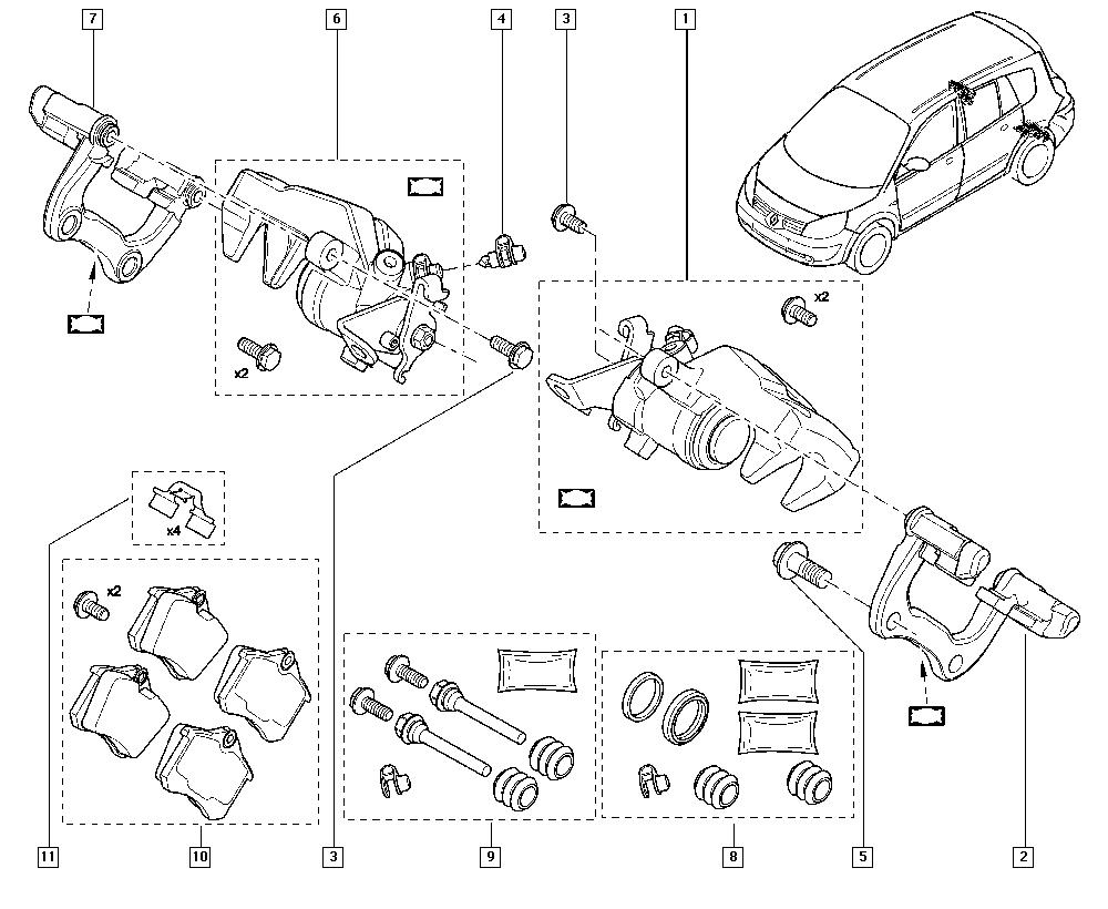 Scénic II, JM05, Manual, 34 Rear non-bearing elements