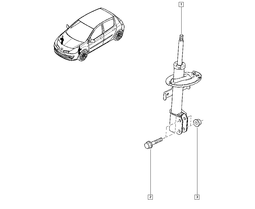 Clio III, CR0N, Manual, 32 Non bearing front elements