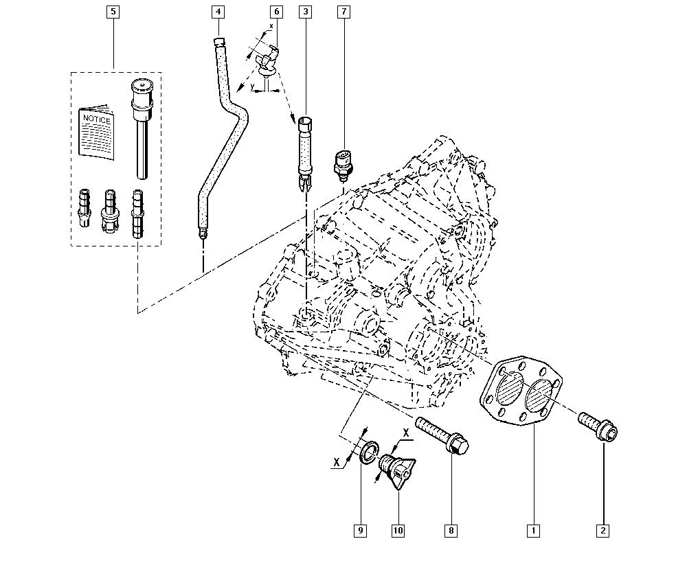 Laguna II, KG1L, Manual, 21 Manual gearbox / Gearbox