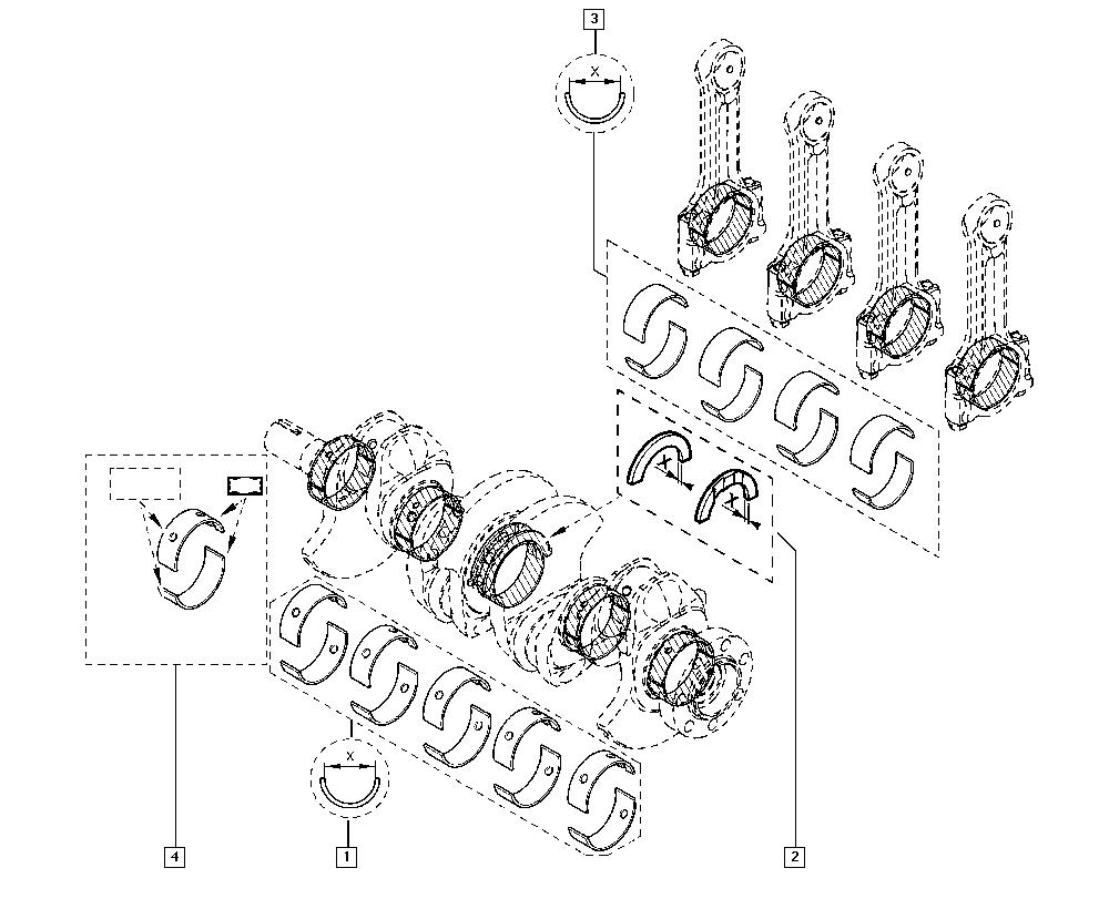 Clio III, CR0N, Manual, 10 Engine / Bearing shells