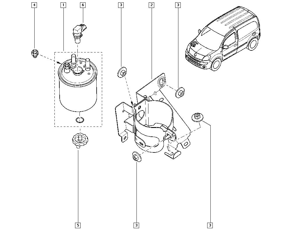 Kangoo II, KW0V, Manual, 13 Fuel supply / Diesel injection