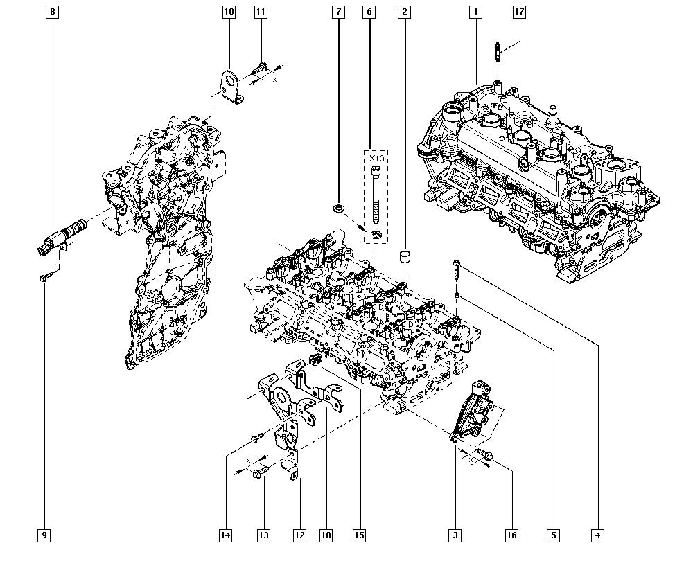 Clio IV, BHM0, Manual, 11 Upper engine / Cylinder head