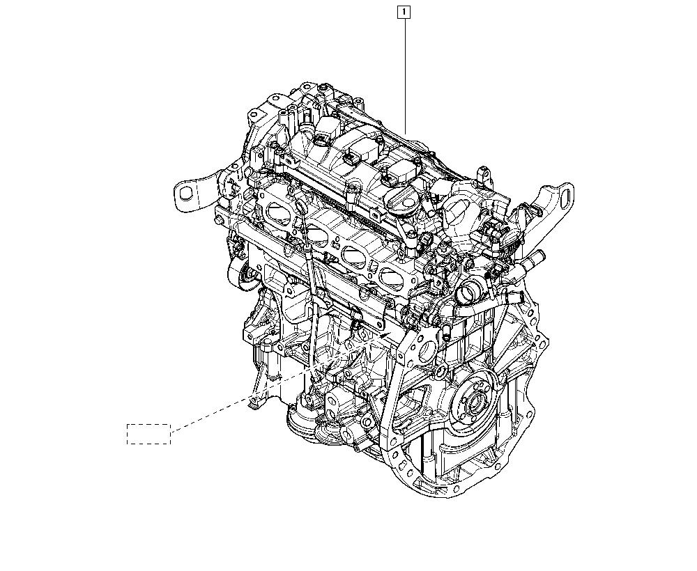 Clio IV, BHJ4, Manual, 10 Engine / Complete engine