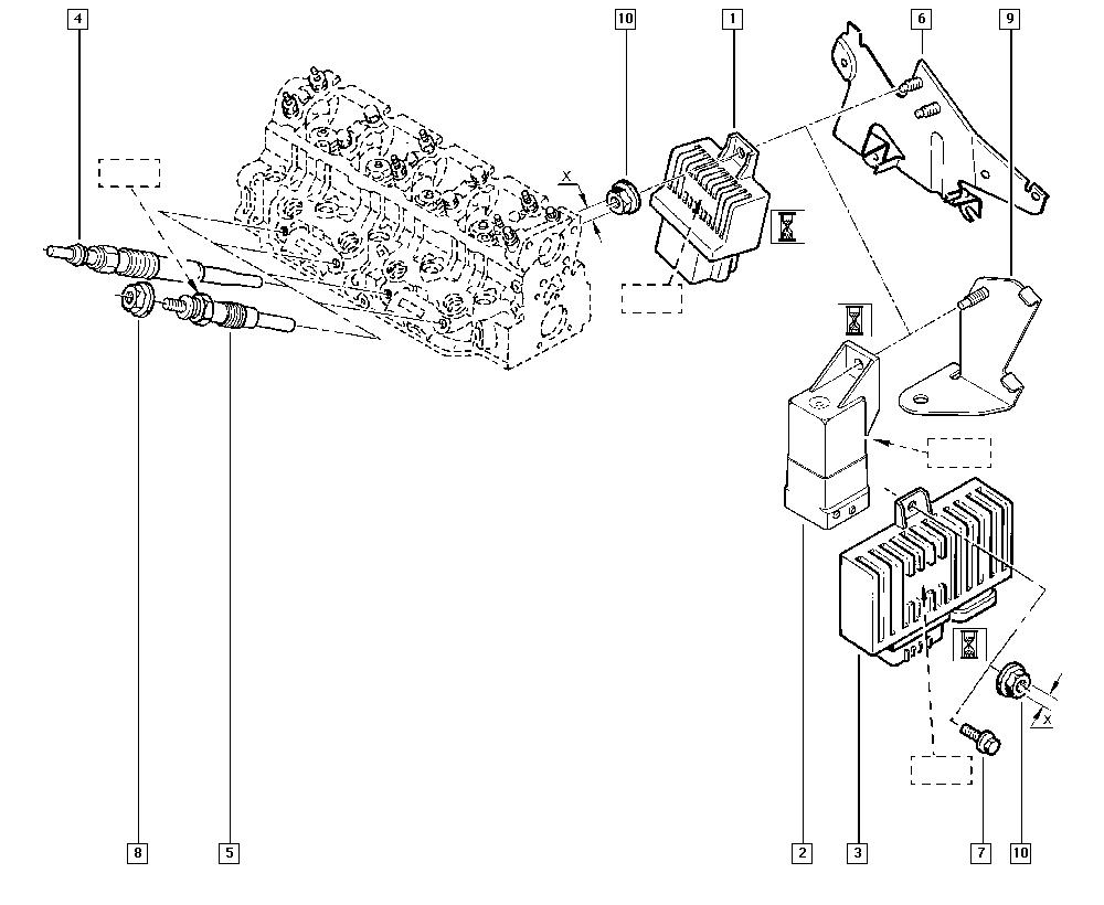 Scénic I, JA01, Manual, 13 Fuel supply / Preheating