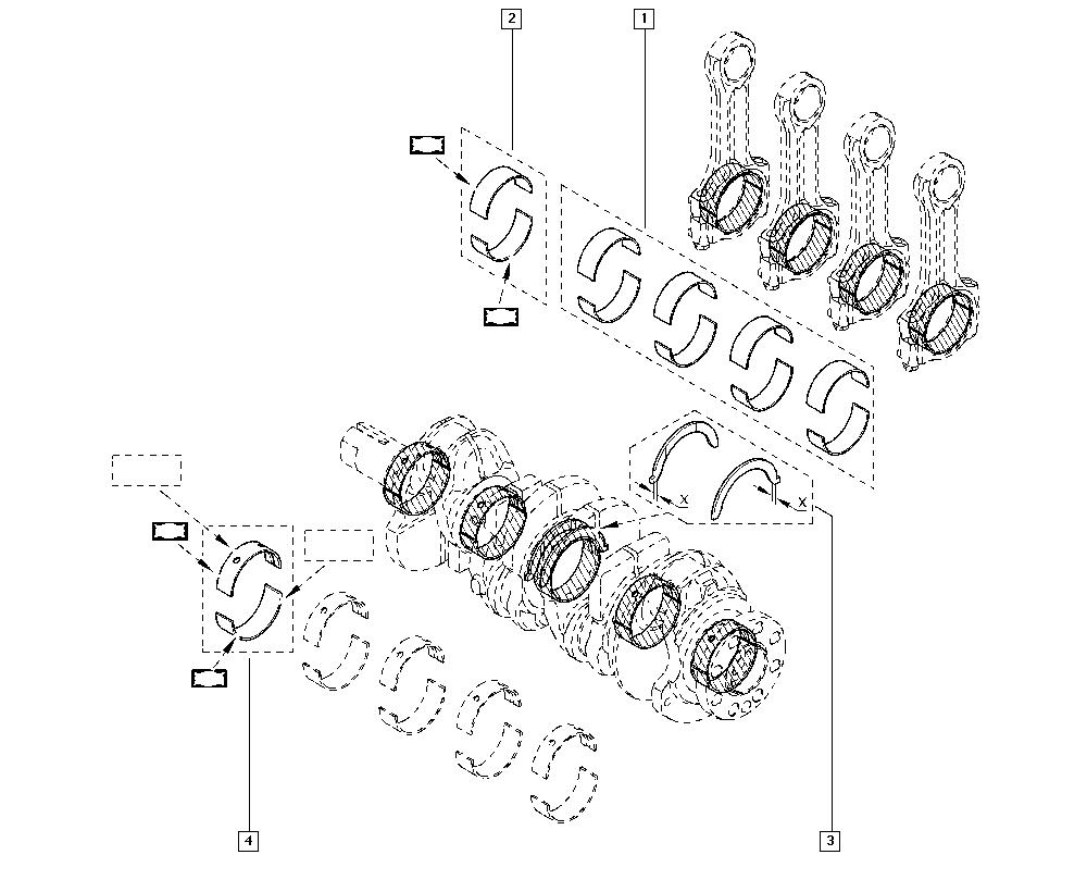 Espace IV, JK01, Manual, 10 Engine / Bearing shells