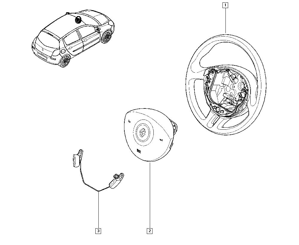 Clio III, CR0N, Manual, 36 Steering / Steering wheel