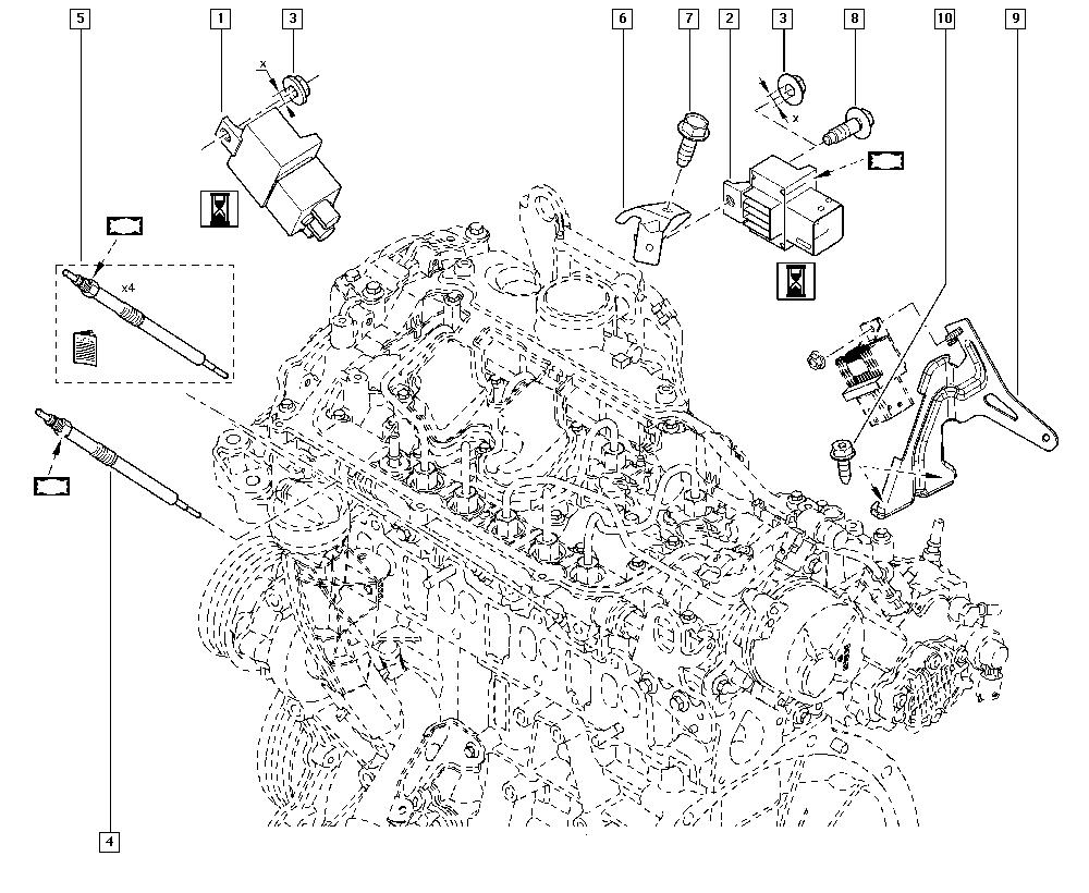 Espace IV, JK01, Manual, 13 Fuel supply / Preheating
