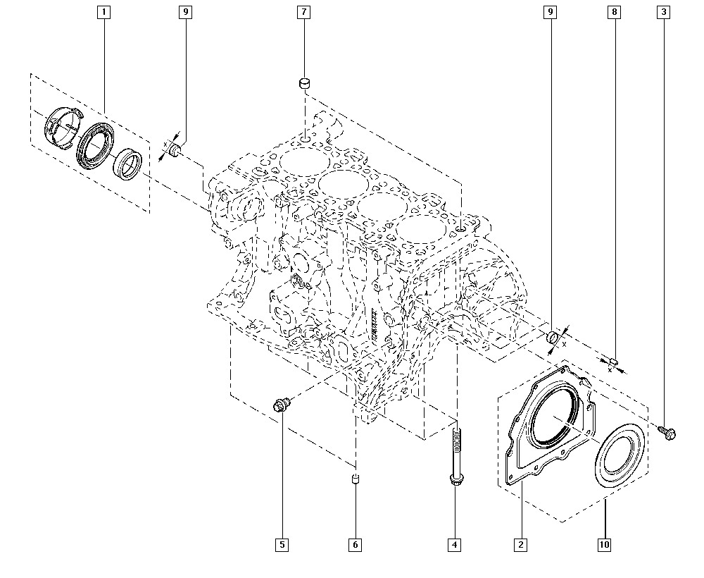 Trafic III, FGME, Manual, 10 Engine / Cylinder block