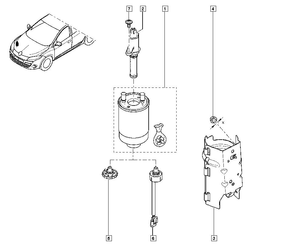 Mégane III, KZ09, Manual, 13 Fuel supply / Diesel