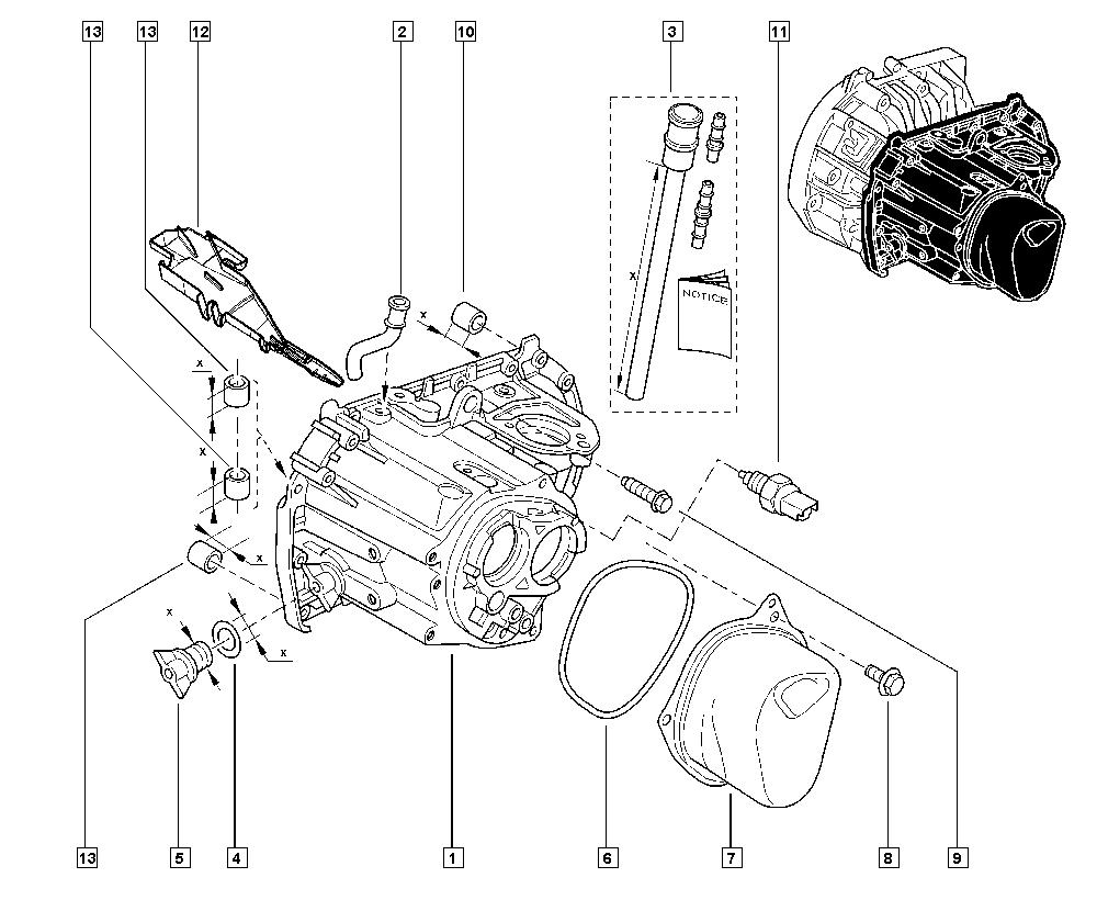 Laguna II, BG0K, Manual, 21 Manual gearbox / Gearbox