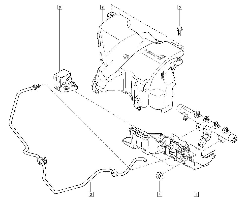 Mégane III, KZ09, Manual, 13 Fuel supply / Injector