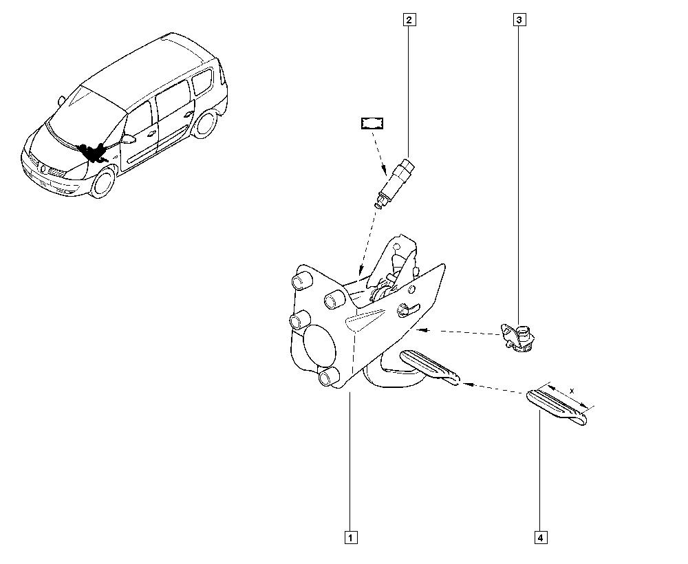 Espace IV, JK0J, Manual, 37 Pedal assembly / Pedal