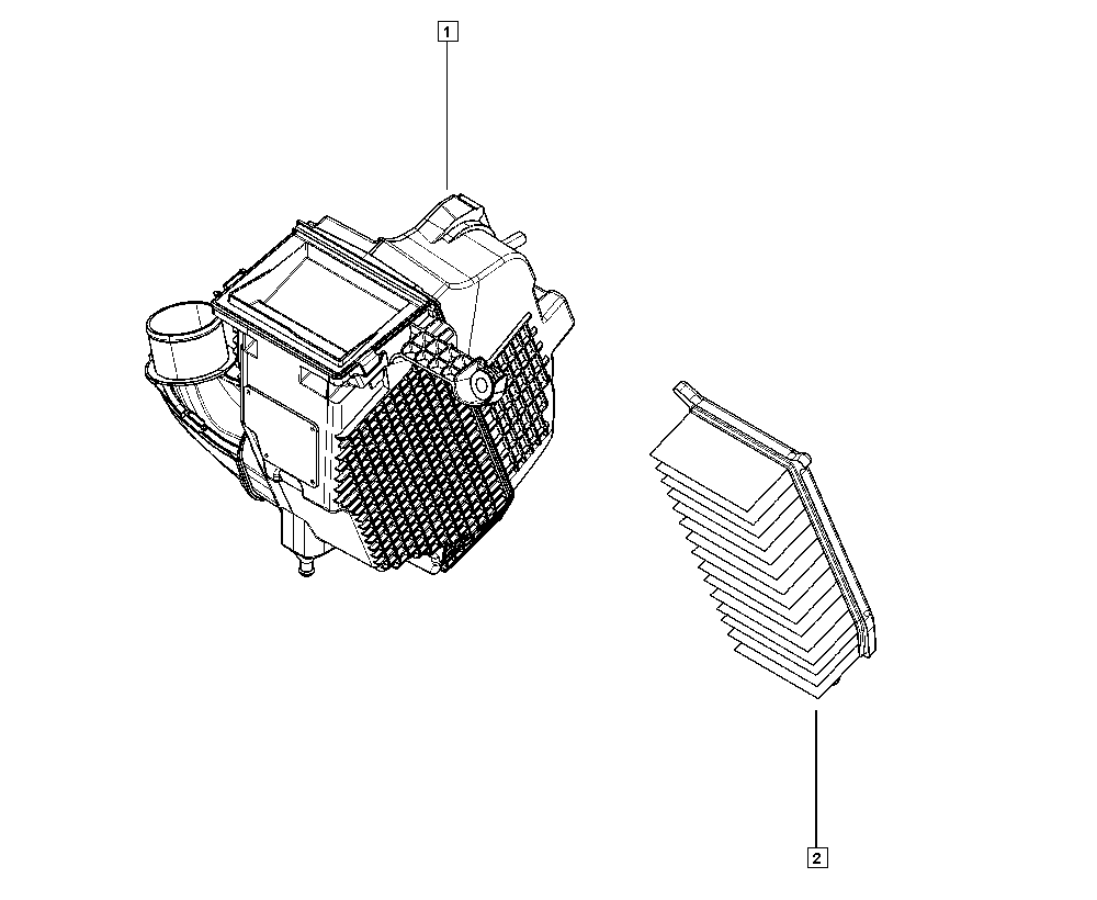 Logan Sandero II, B8A4, Manual, 13 Fuel supply / Air