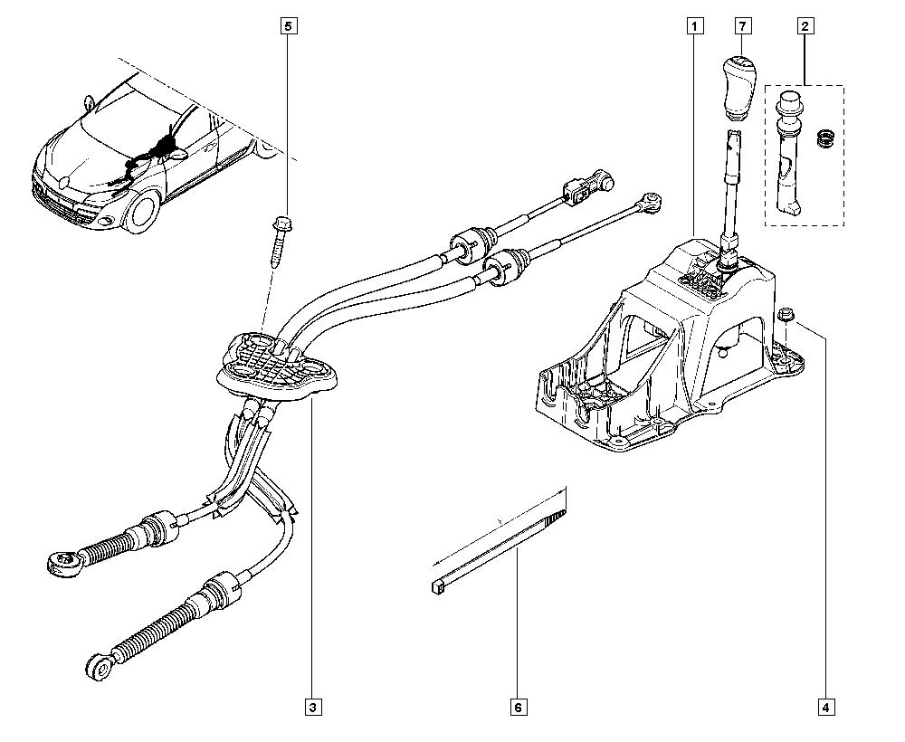 Mégane III, KZ1G, Manual, 38 Hand controls / Manual speeds