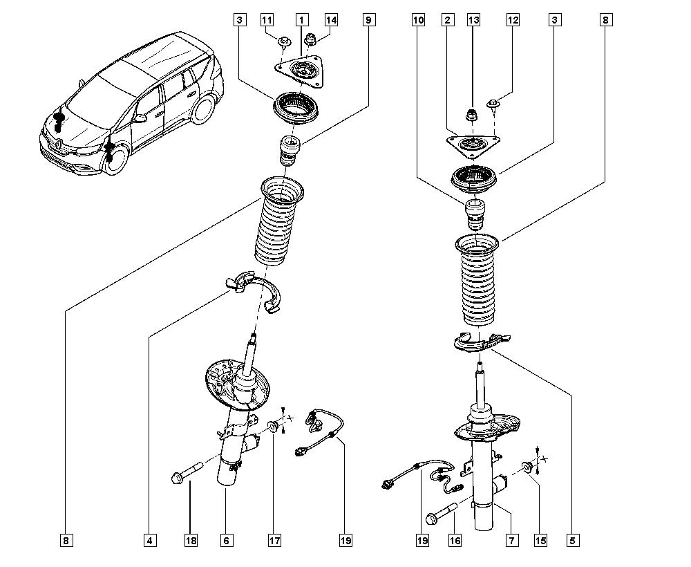 Espace V, JRA4, Manual, 32 Non bearing front elements