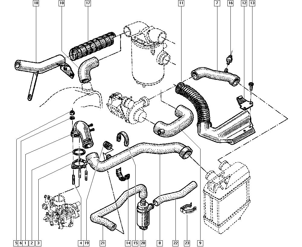 R5 New, C405, Manual, 13 Fuel supply / Air filter hoses