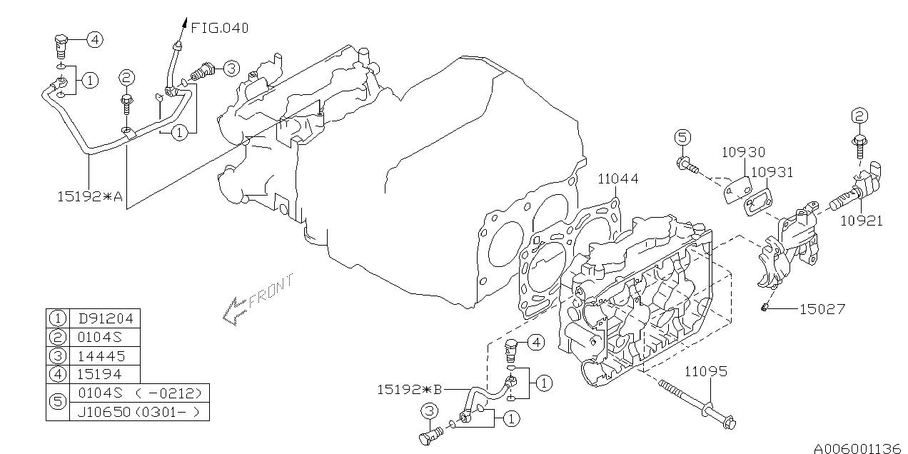 Europe (LHD), IMPREZA G11, G, Engine, 006/03(154 +204 +205