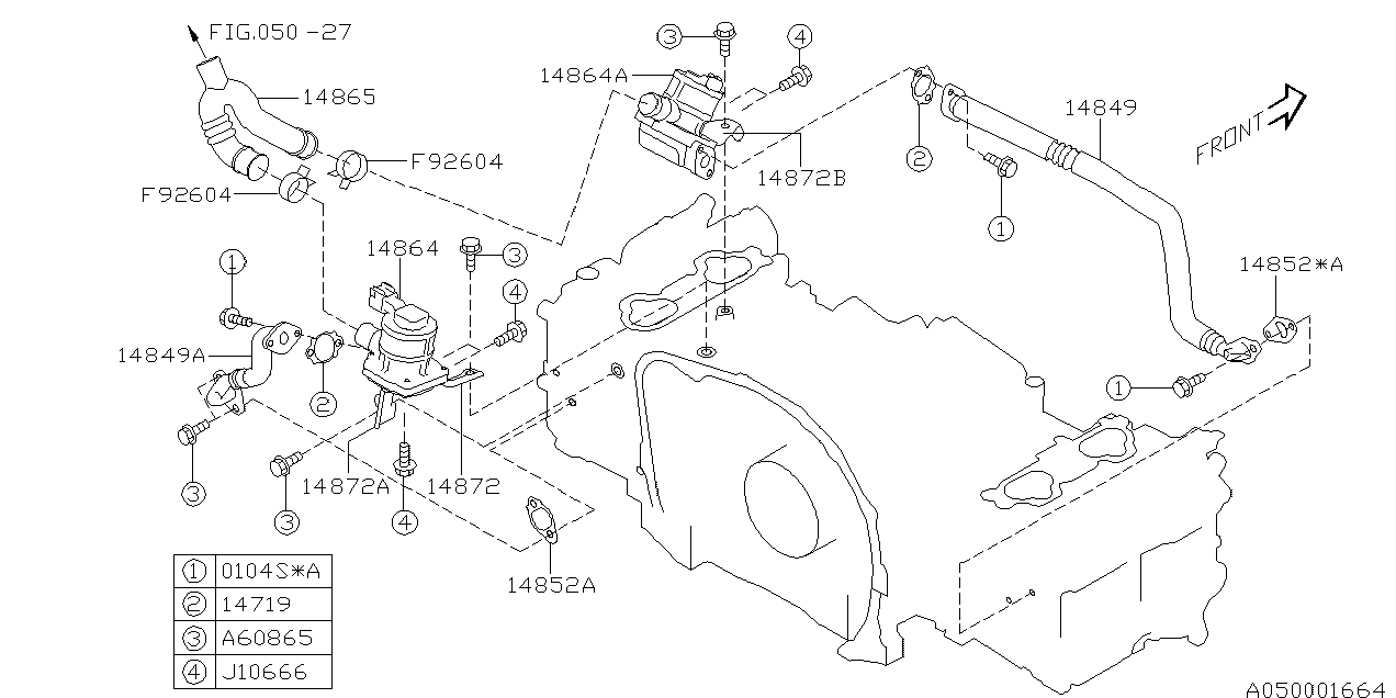 Europe (LHD), IMPREZA G11, G, Engine, 050/30(255 +257