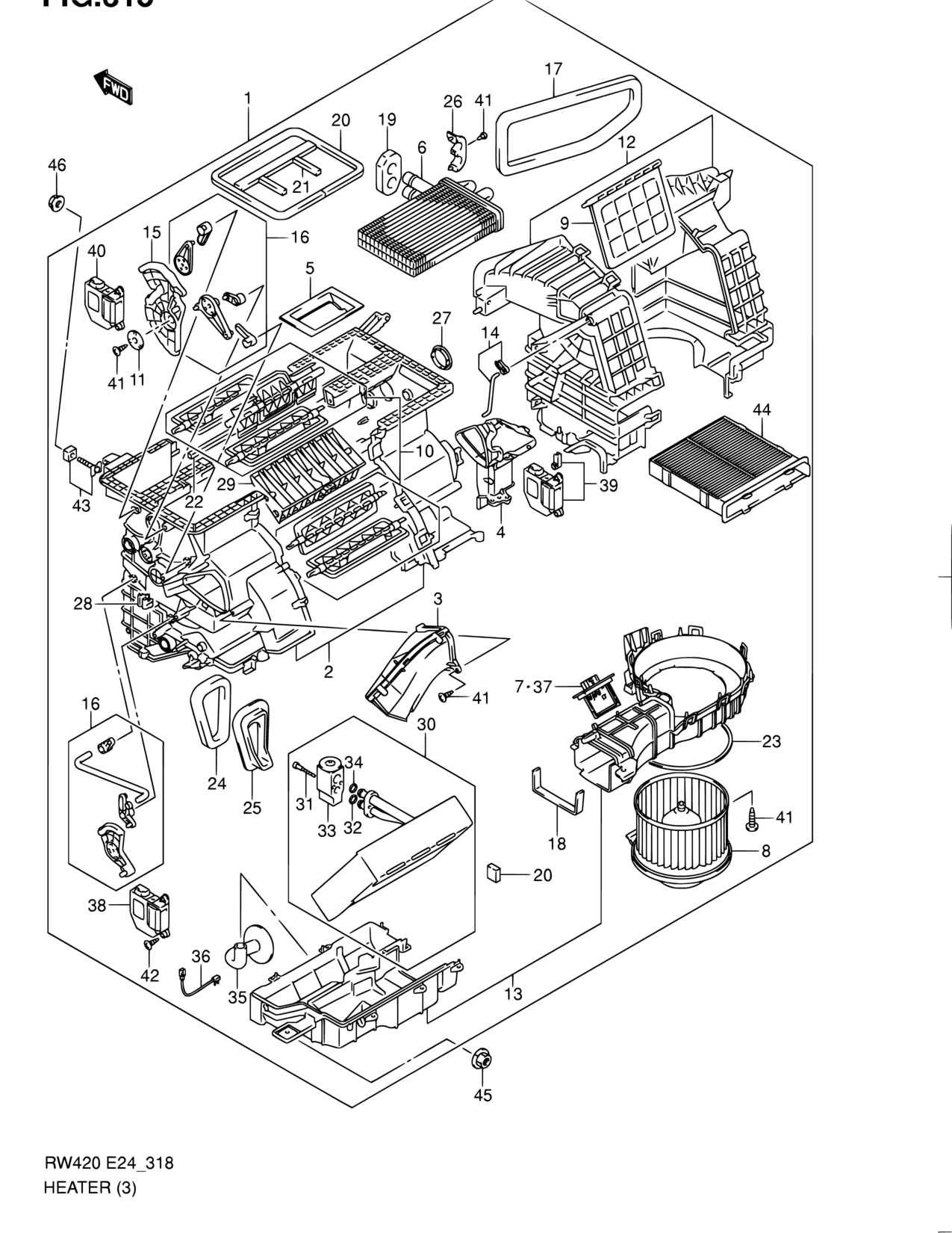 hight resolution of middle east sx4 rw416 6 e30 e38 interior trim 318 heater doors heater and air conditioning heater on e30 heater hose diagram