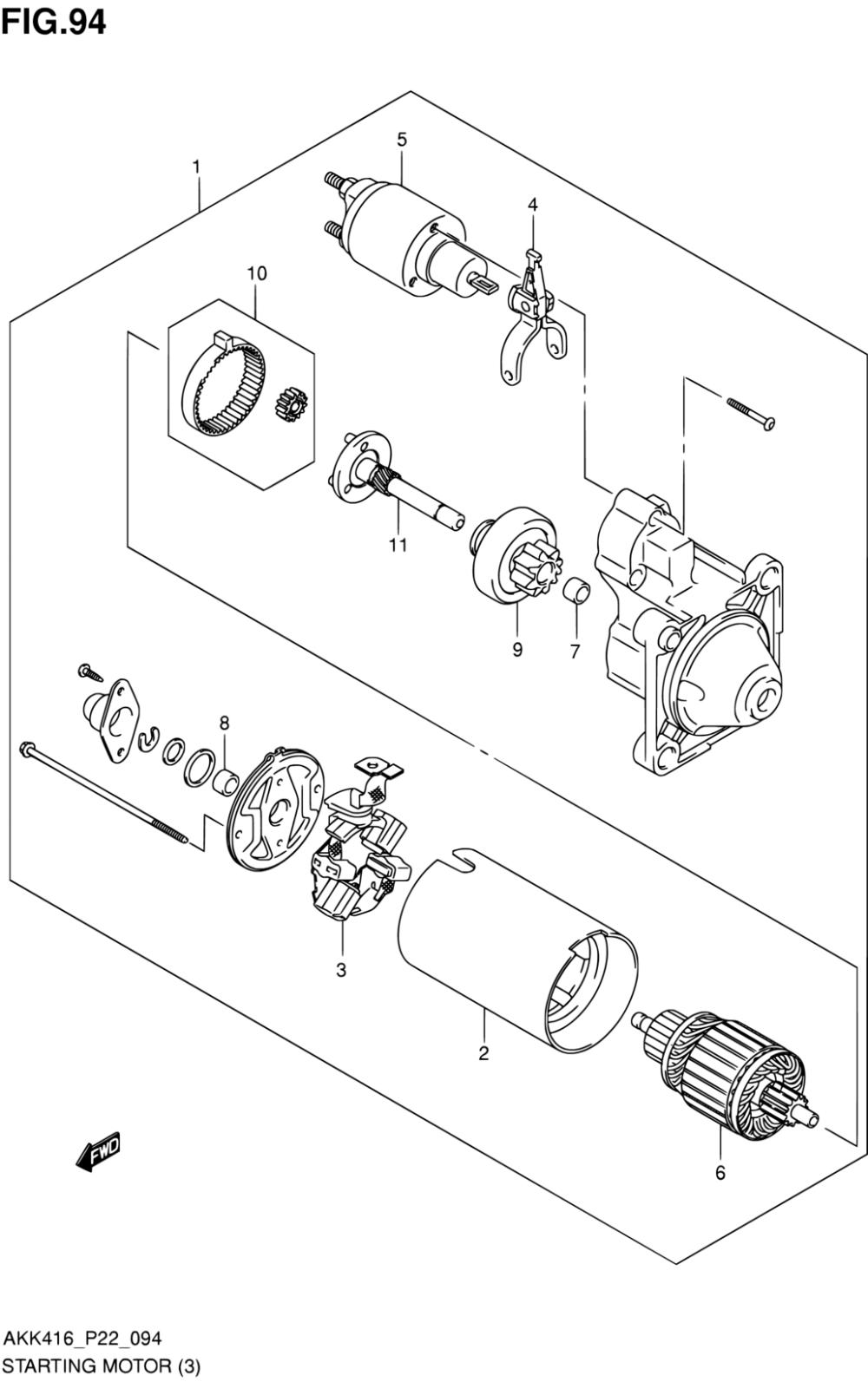 medium resolution of latin america sx4 akk416 p71 engine electrical 94 starting parts