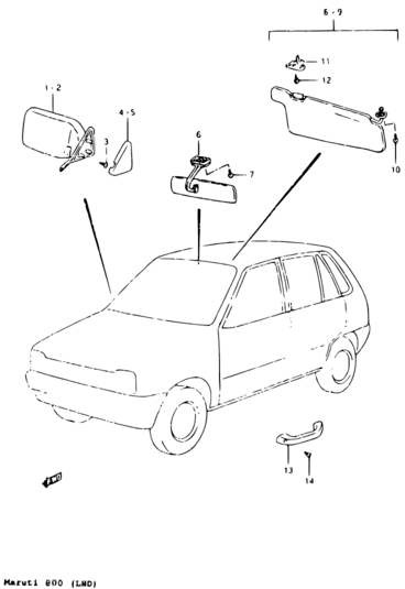 Maruti 800 Car Drawing