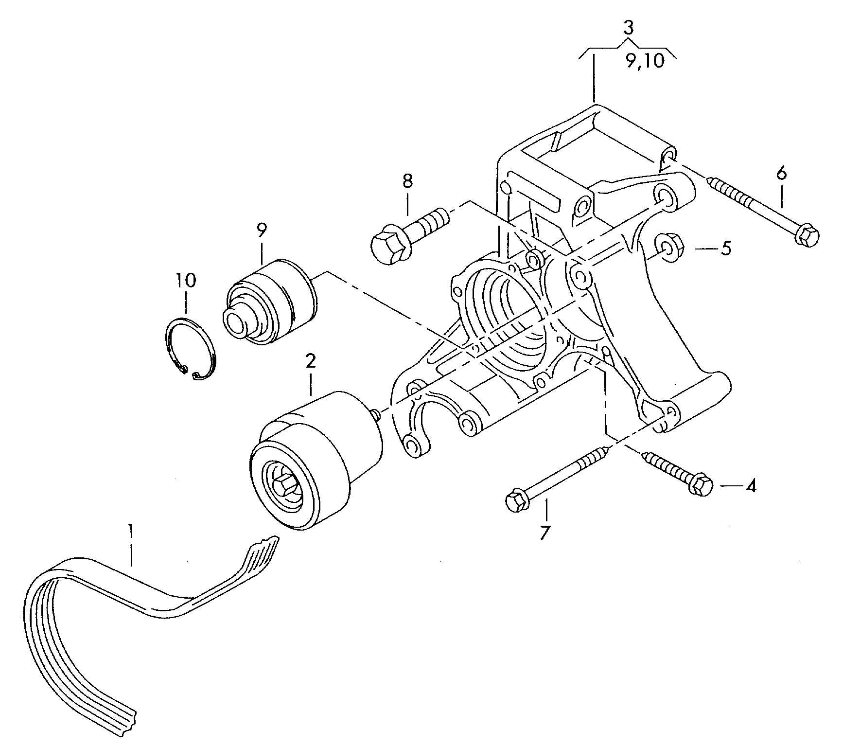 VW, Passat/Variant/Santana Europe, 1999, Electrics, 90340