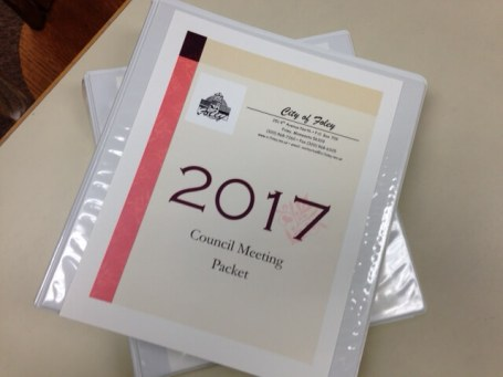 Shared Council Packets are also available to anyone who attends City Council meetings.