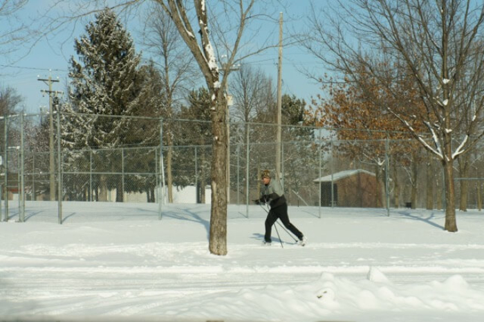 New skier