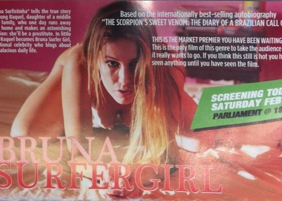 Anúncio de Bruna Surfistinha publicado na revista Hollywood Reporter (11/02/2012)