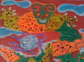 Dragon painting: Mission Grove Primary School in Walthamstow