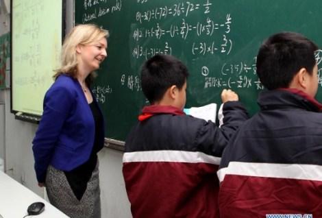 Elizabeth Truss Shanghai Maths
