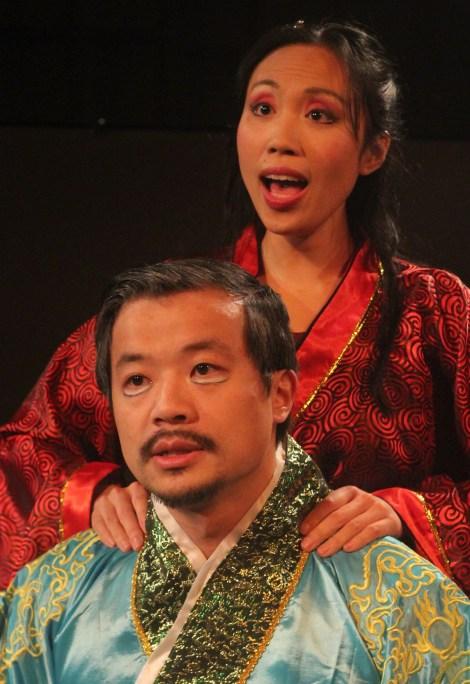 Andrew Wong as WangYun and Michelle Yim as DiaoChan