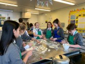 Brune Park School Year 7 students are making dumplings