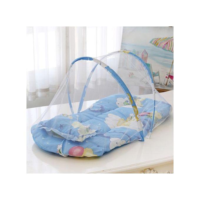 berceau bebes portable tente avec moustiquaire lit bebe pliable 3 en 1 bleu