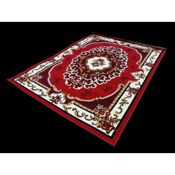 tapis de salon noir rouge 270 190cm