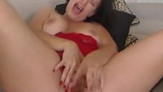Busty Strokes her Pussy and Reaches Orgasm HD