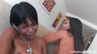 Asa Akira's Hot Girl on Girl With Marie Luv