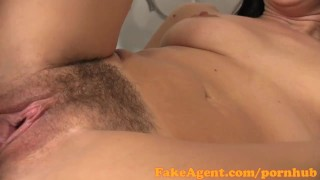 FakeAgent Sexy amateur gets jizz all over her hairy bush