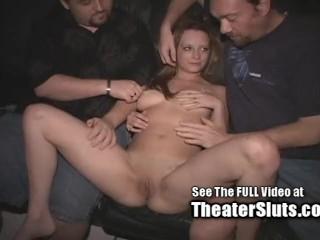 Steaming hot Hot teen Twat Bukkake in Pornography Theater!