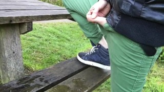 leaving my smelly piss fuck fucking bench