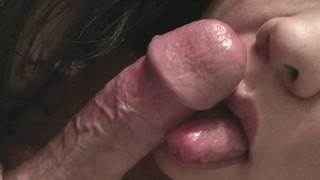 Licking, Tip Teasing and Sucking his Big Head Cock .