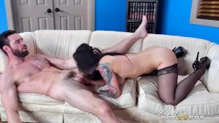 Katrina Jade deepthroats some cock - Brazzers