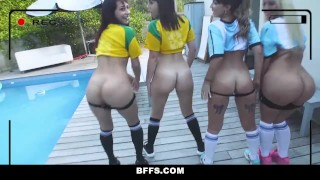 BFFS - Hot Soccer Chicks Fucked by Coach