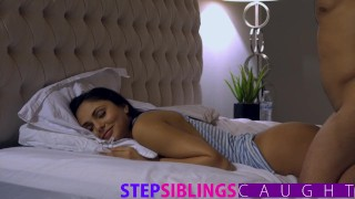 Sleeping Step sister gets pussy pounded and facial