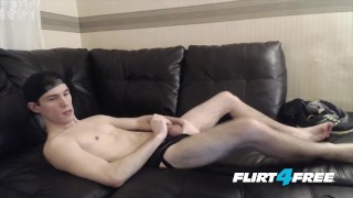 Cameron Jakob Laps Up His Own Cum Like a Dog