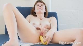 Busty Sosha Fucking A Banana
